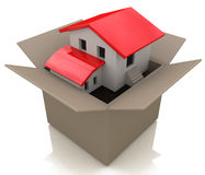 House in box royalty free stock photos