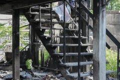 House brand Detaljen avbildar brandkatastrof från ett hem royaltyfria bilder
