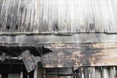 House brand Detaljen avbildar brandkatastrof från ett hem arkivfoto