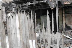 House brand Detaljen avbildar brandkatastrof från ett hem royaltyfri fotografi