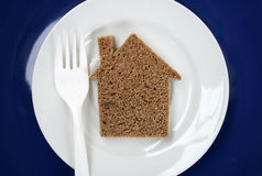 The house from bread. Royalty Free Stock Photo