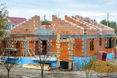 House brick building work place Stock Image