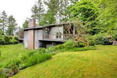 House with brick chimney. Royalty Free Stock Photo
