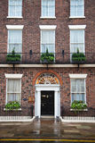 House with brick facade and doorway Royalty Free Stock Photos