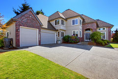 House with brick trim and curb appeal Royalty Free Stock Image