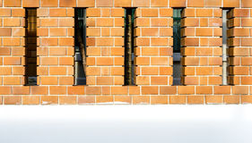 House brick wall with space between posts Stock Photography