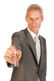 House broker with keys Stock Photo