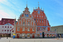 House of the Brotherhood of Black Heads. In Riga, Latvia royalty free stock photography