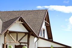House with a Brown Roof Stock Images