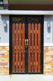 A house brown wood door. Royalty Free Stock Photos