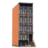 House Brownstone on White 3D Illustration Stock Images