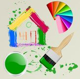 House,brush Royalty Free Stock Images