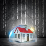 House in bubble Stock Image