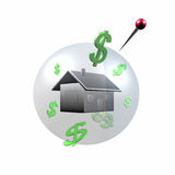 House bubble in 3D Royalty Free Stock Photography