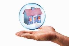 House in a Bubble. Royalty Free Stock Images