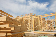 House building construction Stock Image