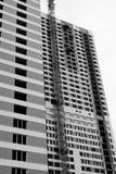 House-building. Black and white photo, camera Pentax k10d kit Stock Image