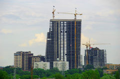 House building. Building high-rise house iron-concrete Stock Photography