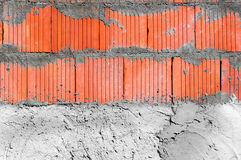 House building. Close up on the wall-structural work Stock Images