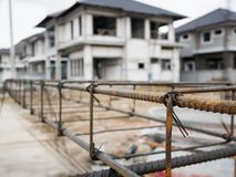 House building construction site Royalty Free Stock Images