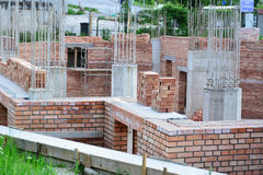 House building - construction site Royalty Free Stock Photography
