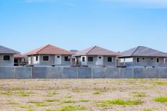 House Building and Construction Site village in progress, waitin Royalty Free Stock Photos