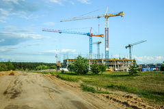 House building constructions. In Pilaite Vilnius, Lithuania Stock Image