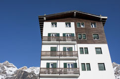 House Building Dolomites Snow Stock Photography