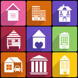 House and Building  icon set Royalty Free Stock Photography
