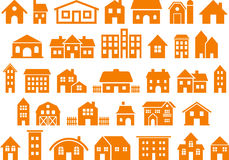 House and building icons Royalty Free Stock Image