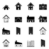 House and building icons set vector illustration Royalty Free Stock Images