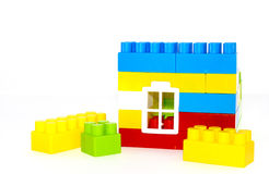House building from lego bricks on a white Royalty Free Stock Image