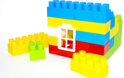 House building from lego bricks on a white Stock Image