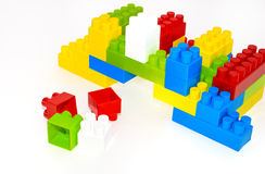 House building from lego bricks on a white Royalty Free Stock Images