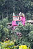 House building at Legship village, West Sikkim, India Stock Photo