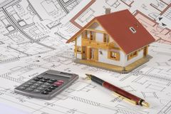 House Building Plan Stock Images