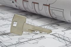 Free House Building Plan Royalty Free Stock Photo - 9506625