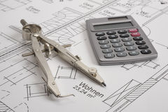 House building plan Stock Photography
