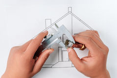 House-building Stock Photo