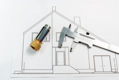 House-building Royalty Free Stock Photography