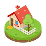 House Building Private Property Tree Icon Real Royalty Free Stock Photo