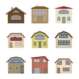 House and building set. Stock Photos