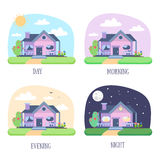 House Building Set. Vector Stock Photo
