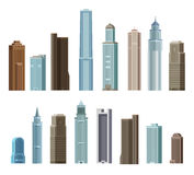 House, building, skyscraper. Set of colored icons Royalty Free Stock Images