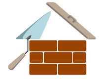 House building symbol. Vector illustration royalty free illustration