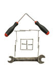 House from building tools Stock Photos