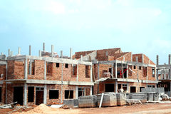 House Building under Construction Royalty Free Stock Image