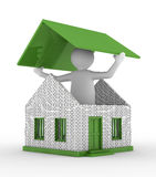 House building on white background Stock Images