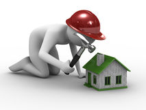 House building on white background Stock Photo