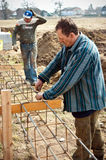 House building workers Stock Photos